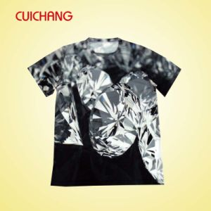Wholesale Polyester Heat Transfer Printing Custom Design Fashional Good Quality Men′s T-Shirt Ts-052 pictures & photos
