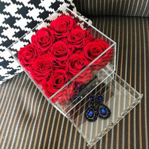 Beautiful Flower Box Packaging Rose Acrylic Flower Box pictures & photos