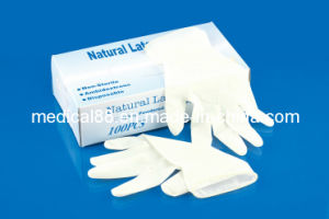 Disposable Medical Latex Examination Gloves (S, M, L, XL) pictures & photos