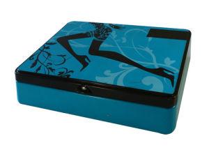 Blue Girls′ Stuff Storage Metal Tin Box
