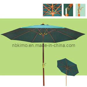 Dia. 300cm Wooden Market Umbrella with Metal Tilt / Outdoor Furniture Beach Umbrella (22313)
