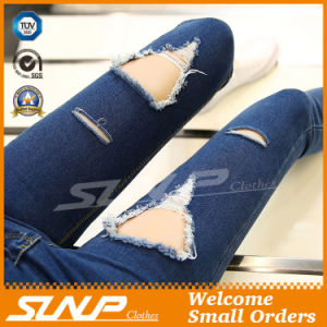 Women Ripped Jeans Pants Denim Trousers Hole Pant
