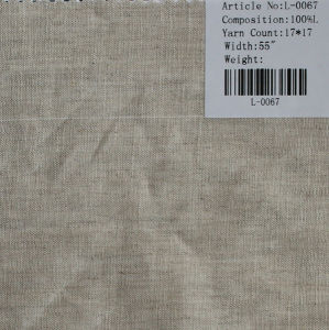 The Pure Linen Fabric L-0067 pictures & photos