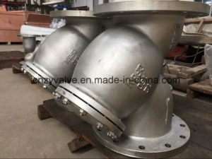 "API/DIN/JIS Class150 Cast Steel A216 Wcb 6"" Dn150 Y Strainer pictures & photos"