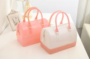 China Fatory Fashion Candy Jelly Speedy Hand Bag with Competitive Price (XP1731) pictures & photos