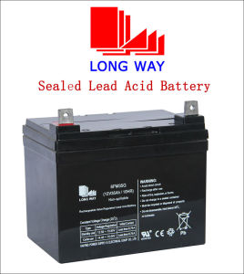 12V35ah Emergency Light Rechargeable Sealed Lead Acid Battery pictures & photos