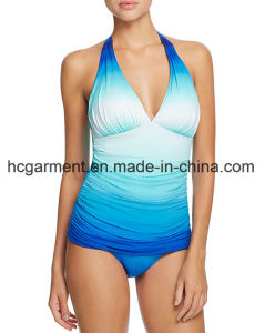 Gradient Colors Swimsuit for Women, Sex Lady′s One-Piece Swimming Wear pictures & photos