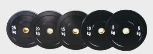 100% Black Rubber Bumper Plate pictures & photos
