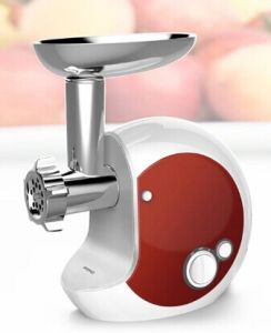 Electric Meat Grinder with Fashional Design, Reversible Function, Aluminum Filling Pan