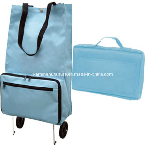Collapsible Shopping Bag with Wheel (KM3256) pictures & photos