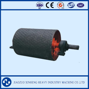 Feeding Conveyor Return Pulley with Rubber Lagging / Diamond Grooved pictures & photos