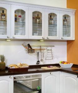 Double PVC Foil Kitchen Cabintry (zc-016) pictures & photos