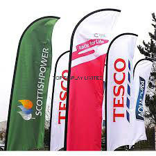 New Custom Size Design Feather Flag/Wind/Flying Flagcustom Print Outdoor Advertising Display Teardrop/Vetical/Feather /Swooper/Beach Sports Event Pole Flag pictures & photos