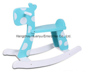 New Design Baby Rocking Horse-Blue Rabbit Rocker with White DOT pictures & photos