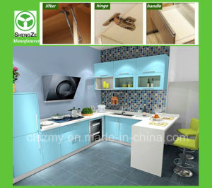 Blue Color New Design Kitchen Cabinet pictures & photos