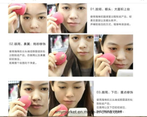 Gourd Droplets Facial Puff Various Shape Colorful Cosmetic Puff Wet / Dry pictures & photos