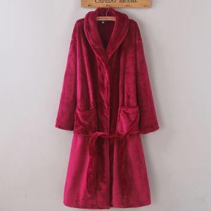 Promotional Women Flannel / Coral Fleece / Velvet Bathrobe / Pajama / Nightwear pictures & photos