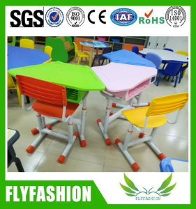 Children Furniture Height Adjustable Kids Plastic Desk Chair pictures & photos