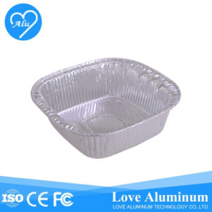 Square with Lid for Catering Used Aluminum Foil Cake Pan pictures & photos