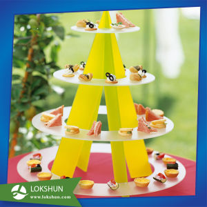 Hot Selling Round Acrylic 4-Tier Cupcake Cake Stand for Birthday Wedding Party Cake Shop pictures & photos