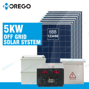 Morego off Grid Homage 5kw Solar Energy System with Inverter pictures & photos