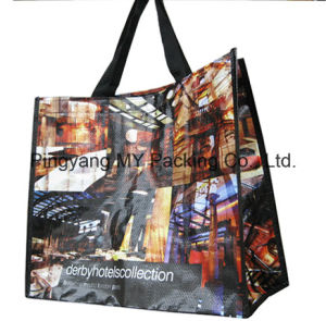 Worldwide PP Woven Handle Bag with Custom Print pictures & photos