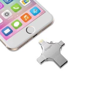 4in1 USB Flash Drive 16GB 32GB Pendrive 128GB Metal Memoria USB Stick OTG Type-C Micro USB for iPhone iPad Pen Drive 64G pictures & photos