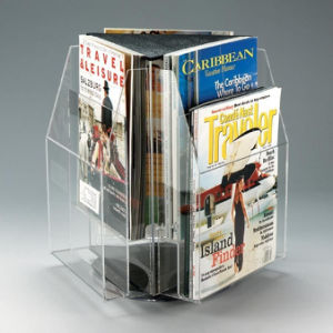 Wholesales Customized Acrylic Magazine Display Box pictures & photos