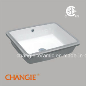 Ceramic Rectangle Undermount Vitreous Sink (1637)