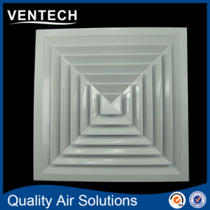 Square 4 Ways Air Diffusers, Aluminium HVAC Lay in Ceiling Square Diffuser pictures & photos