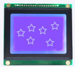 128 X 64 Dots Cog LCD Display Module, RGB LED Backlight pictures & photos