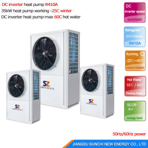 220V/10kw Evi Tech. Geothermal Water Small Ground Source Heat Pump pictures & photos