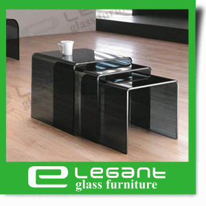 Nesting Table Sets in Black Painting pictures & photos
