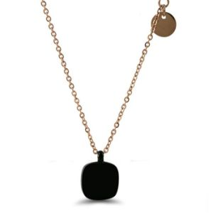 Fashion Stainless Steel Jewelry Women Square Diamond Necklace pictures & photos