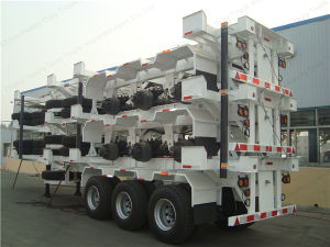 Steel Material and Truck Trailer Use 40FT Skeleton Container Trailer pictures & photos