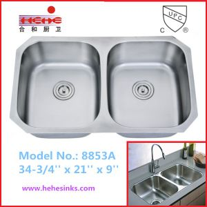 Stainless Steel Sink with Cupc Approved (8853A) pictures & photos