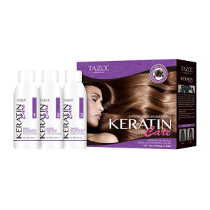 Tazol Cosmetic Keratin Hair Treatment (Shampoo+Keratin+Leave In Condtioner) 100ml*3 pictures & photos