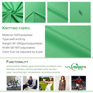 100% Polyester Pique Polo Knit Fabric for Shirt with High Quality pictures & photos