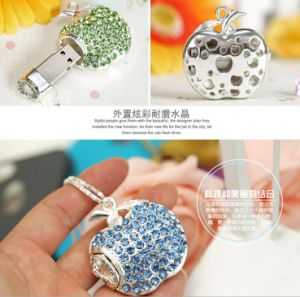 Apple Crystal USB 2.0 Memory Diamond Apple Flash Drive pictures & photos