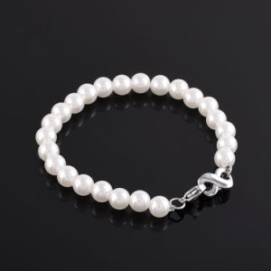 Fashion Pearl Bracelet Stainless Steel Infinity Urn Charm Women′s Bracelet pictures & photos