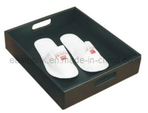 Special Design Tidy Luxury PU Leather Shoe Basket for Hotel pictures & photos