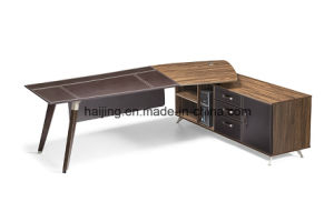 High Quality Executive Desk in Wood Veneer Finish Office Desk pictures & photos