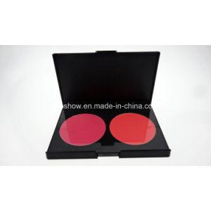 Private Label No Logo 2 Colors Cosmetics Eye Shadow Palette Double Color Blush Palette H2#1