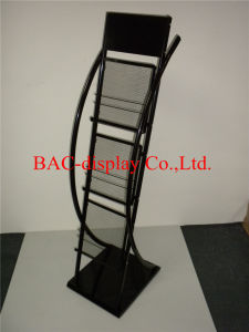 Factory Customized Floor Standing Metal Display Rack for Books pictures & photos