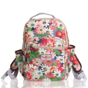 British Floral Waterproof PVC Canvas School Backpack (99042)