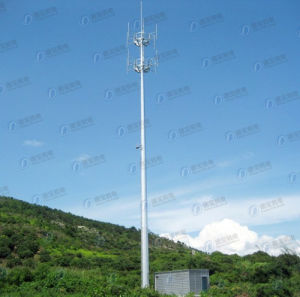 Electric Hot-DIP Galvanized Telecom Steel Single Tube Tower pictures & photos