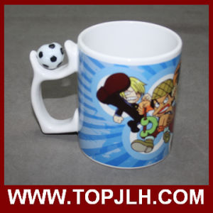 Gift Sublimation Ceramic Special Handle White Mug pictures & photos
