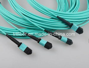 MPO Cable Om3 10g Fiber Patch Cord pictures & photos