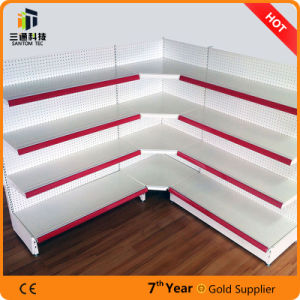 Supermarket Gondola Metal Display Stand Corner Shelf pictures & photos