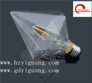 2017 Newest Product Diamond Shape E27 Edison Filament Bulb
